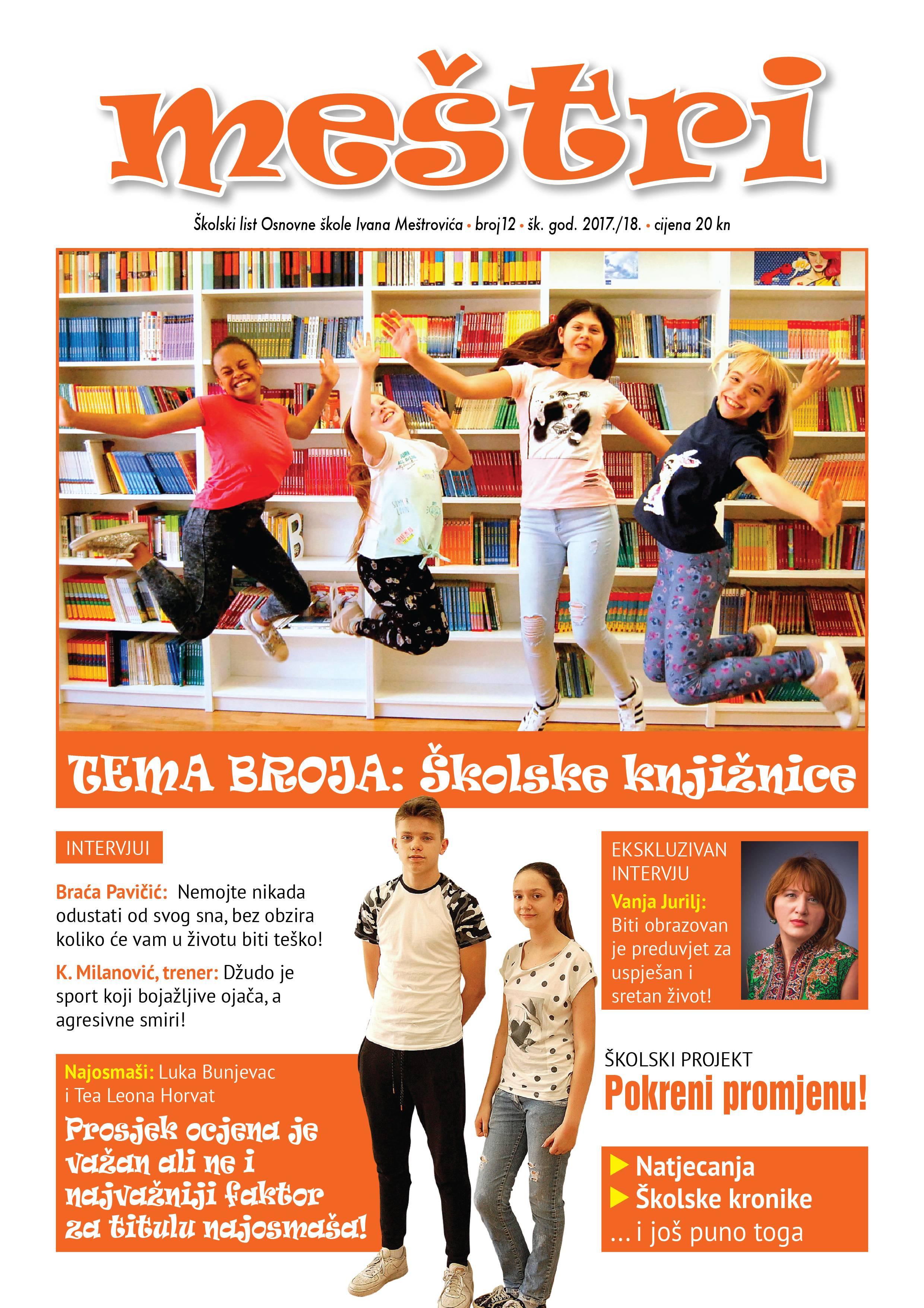 Osnovna Skola Ivana Mestrovica Zagreb Naslovnica